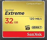 Карта памяти SanDisk Extreme CompactFlash 32GB (SDCFXSB-032G-G46) -