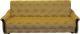 Диван Промтрейдинг Уют 140 с пружинным блоком (гобелен золотой) -