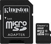 Карта памяти Kingston Canvas Select microSDHC (Class 10) UHS-I 16GB (SDCS/16GB) -
