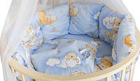 Комплект в кроватку Баю-Бай Нежность К51-Н4 (голубой) -