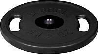 Диск для штанги MB Barbell Олимпийский с ручками d51мм 20кг (черный) -