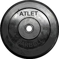 Диск для штанги MB Barbell Atlet d51мм 10кг (черный) -