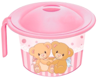 Детский горшок Эльфпласт Кроха 392 (розовый) -