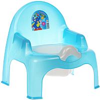 Детский горшок Эльфпласт 023 (голубой перламутр) -
