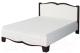 Двуспальная кровать Мебель-Неман Тиффани МН-122-01М (белый полуглянец/венге) -