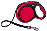 Поводок-рулетка Flexi New Comfort XS 3m (ремень красный) -