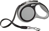 Поводок-рулетка Flexi New Comfort S 5m (ремень антрацит) -