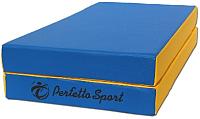Гимнастический мат Perfetto Sport Складной №3 1x1x0.1м (синий/желтый) -