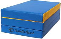 Гимнастический мат Perfetto Sport Складной №4 1x1.5x0.1м (синий/желтый) -