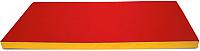 Гимнастический мат Perfetto Sport №9 1x1.5x0.1м (красный/желтый) -
