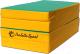 Гимнастический мат Perfetto Sport Складной №5 1x2x0.1м (зеленый/желтый) -