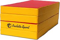 Гимнастический мат Perfetto Sport Складной №5 1x2x0.1м (красный/желтый) -