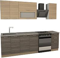 Готовая кухня Иволанд Трейд Зебрано 170-220-60 (светлый/темный) -