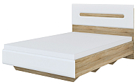 Односпальная кровать Мебель-Неман Леонардо МН-026-10-140 (белый/дуб сонома) -