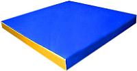 Гимнастический мат KMS sport №2 1x1x0.1м (синий/желтый) -