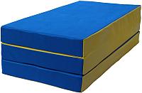 Гимнастический мат KMS sport Складной №4 1x1.5x0.1м (синий/желтый) -