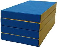 Гимнастический мат KMS sport Складной №5 1x2x0.1м (синий/желтый) -