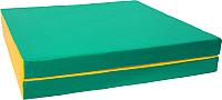 Гимнастический мат KMS sport Складной №10 1x1.5x0.1м (зеленый/желтый) -