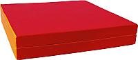 Гимнастический мат KMS sport Складной №10 1x1.5x0.1м (красный/желтый) -