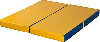 Гимнастический мат KMS sport Складной №11 1x1x0.1м (синий/желтый) -