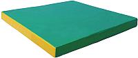 Гимнастический мат KMS sport №2 1x1x0.1м (зеленый/желтый) -