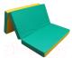 Гимнастический мат KMS sport Складной №4 1x1.5x0.1м (зеленый/желтый) -