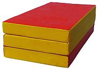 Гимнастический мат KMS sport Складной №4 1x1.5x0.1м (красный/желтый) -