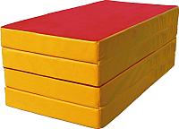 Гимнастический мат KMS sport Складной №5 1x2x0.1м (красный/желтый) -