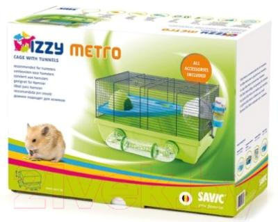 Клетка для грызунов Savic Izzy Metro (голубой/салатовый)