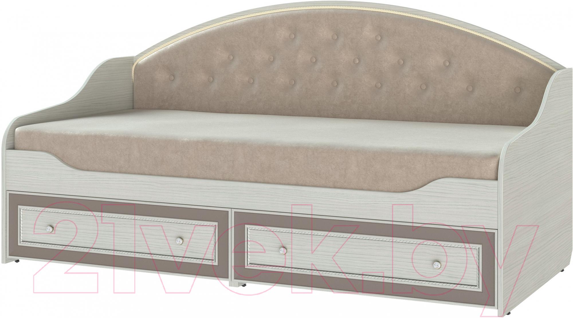 Купить Односпальная кровать Softform, Стрекоза (капучино/вельвет лайт 2), Беларусь