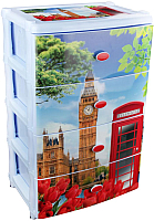Комод пластиковый Альтернатива Лондон / М2263 -