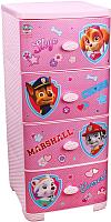 Комод пластиковый Альтернатива Щенячий патруль / М6133 (розовый) -