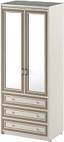 Шкаф Softform Стрекоза 2240 с зеркалом (капучино) -