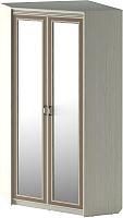 Шкаф Softform Стрекоза 2240 двухстворчатый с зеркалом (капучино) -