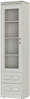 Шкаф-пенал с витриной Softform Стрекоза 1892 левый (гасиенда) -