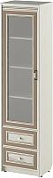 Шкаф-пенал с витриной Softform Стрекоза 1892 левый (капучино) -
