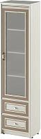 Шкаф-пенал с витриной Softform Стрекоза 1892 правый (капучино) -