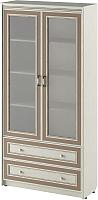 Шкаф с витриной Softform Стрекоза 1892 двухстворчатый (капучино) -