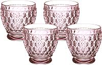 Набор стаканов Villeroy & Boch Boston Colored / 11-7309-1414 (4шт, розовый) -