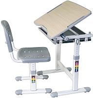 Парта+стул FunDesk Piccolino (серый) -
