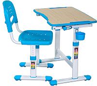 Парта+стул FunDesk Piccolino II (голубой) -