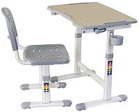 Парта+стул FunDesk Piccolino II (серый) -