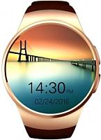 Умные часы Wise WG-SW055 (золото/коричневый) -