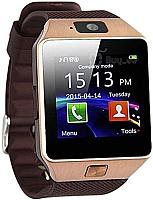 Умные часы Wise DZ09 (золото/коричневый) -