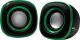 Мультимедиа акустика BBK CA-301S (черный/зеленый) -