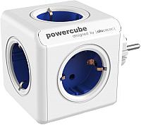 Электроразветвитель Allocacoc PowerCube Original 1100BL / DEORPC (белый/синий) -