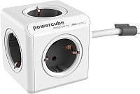 Электроразветвитель Allocacoc PowerCube Extended 1300GY / DEEXPC (1.5м, белый/серый) -