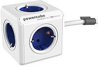 Электроразветвитель Allocacoc PowerCube Extended 1300BL / DEEXPC (1.5м, белый/синий) -