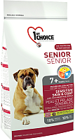 Корм для собак 1st Choice Senior Sensitive Skin & Coat All Breed Lamb, Fish&Brown Rice (12кг) -