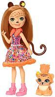 Кукла с аксессуарами Mattel Enchantimals Чериш Гепарди с питомцем  / FJJ20 -
